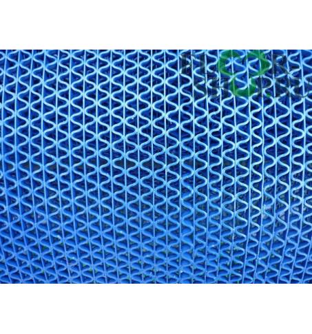 Решетка змейка синяя ширина 0