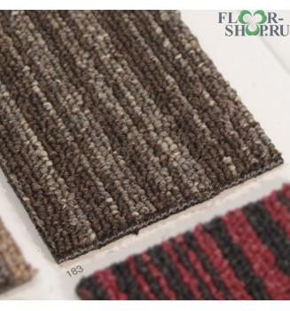 Stripe 183 коричневая в бежевую полоску