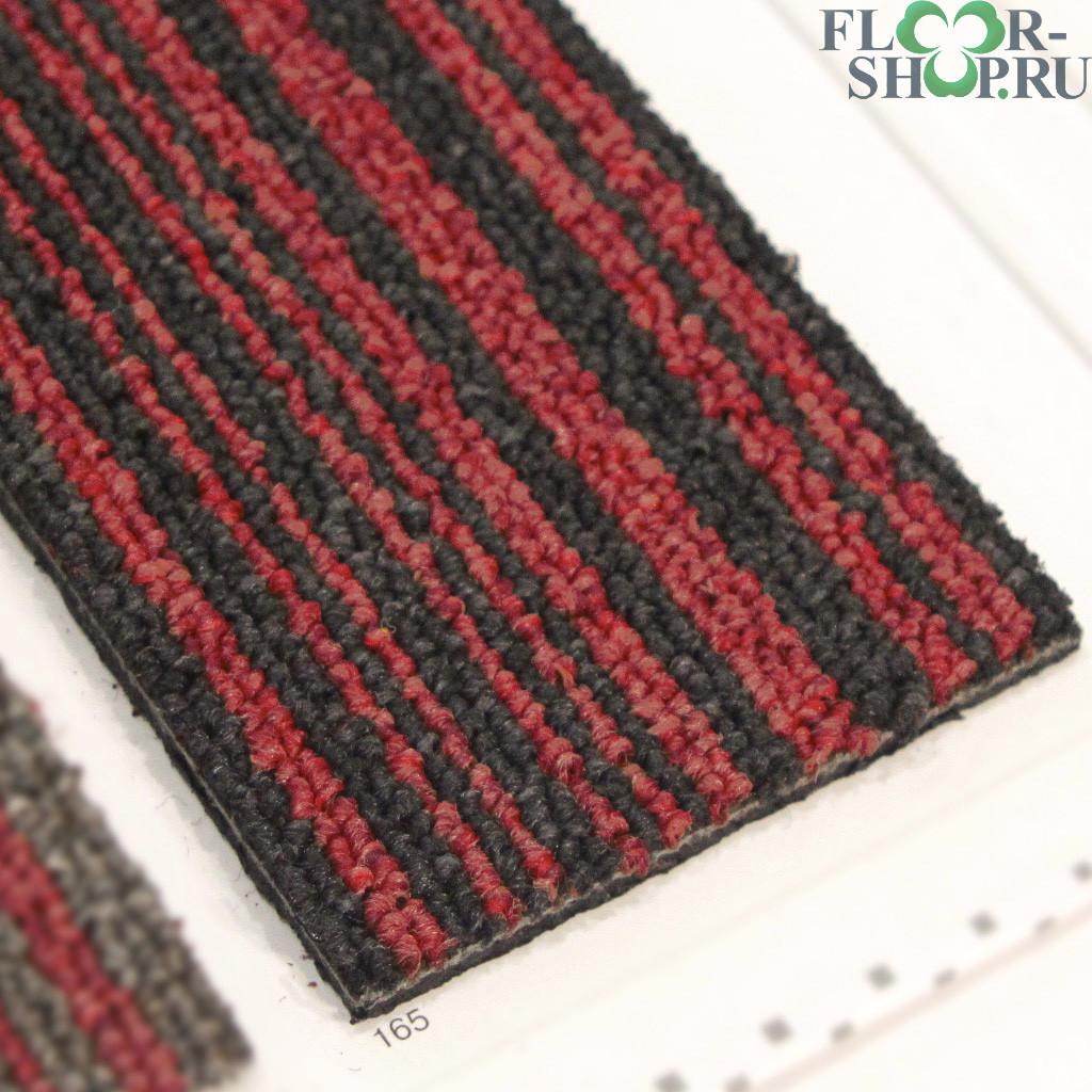 Stripe 165 черная в красную полоску