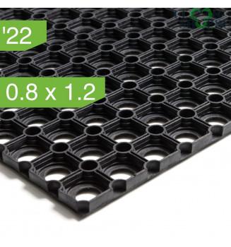 Коврик резиновый ячеистый толщиной 22 мм, 0.8x1.2 м.