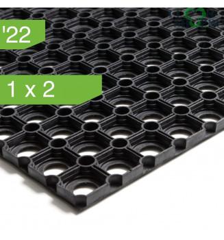 Коврик резиновый ячеистый со сквозными отверстиями 1.0x2.0, 22 мм