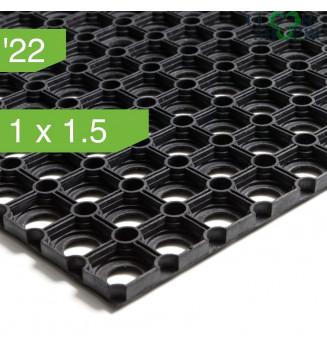 Коврик резиновый ячеистый Домино толщиной 22мм. 1.0x1.5
