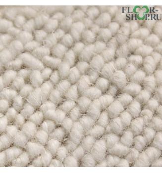 шерстяной ковролин белого цвета Crealfa 86